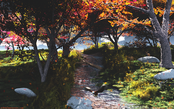 Wallpaper - Autumn Stream