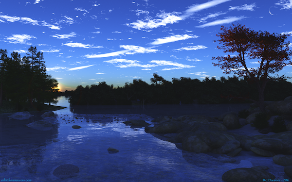 Wallpaper Blue Sunset