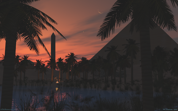 Deset Oasis at Night