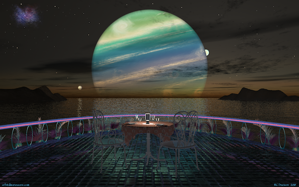 Wallpaper: Dinner for Two with a View