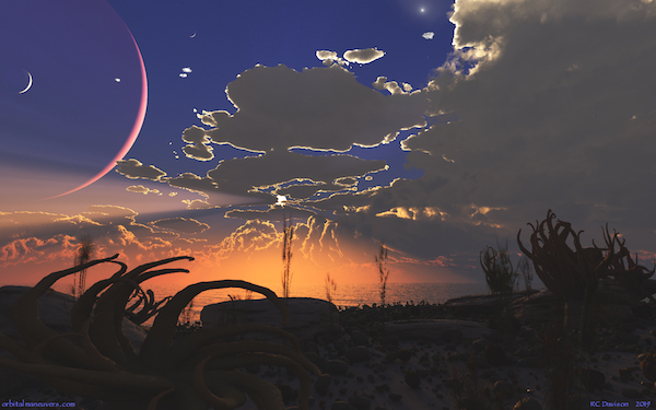 Wallpaper: Exoplanet Sunset