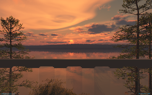 Wallpaper - Sunset at Wellesly Island